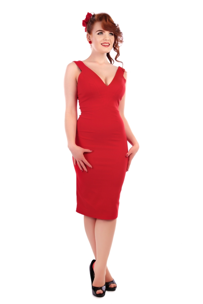 Mel Pencil Dress Red.jpg